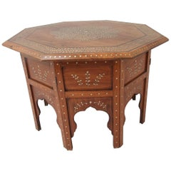 Moorish, Teak, Folding Occasional Table