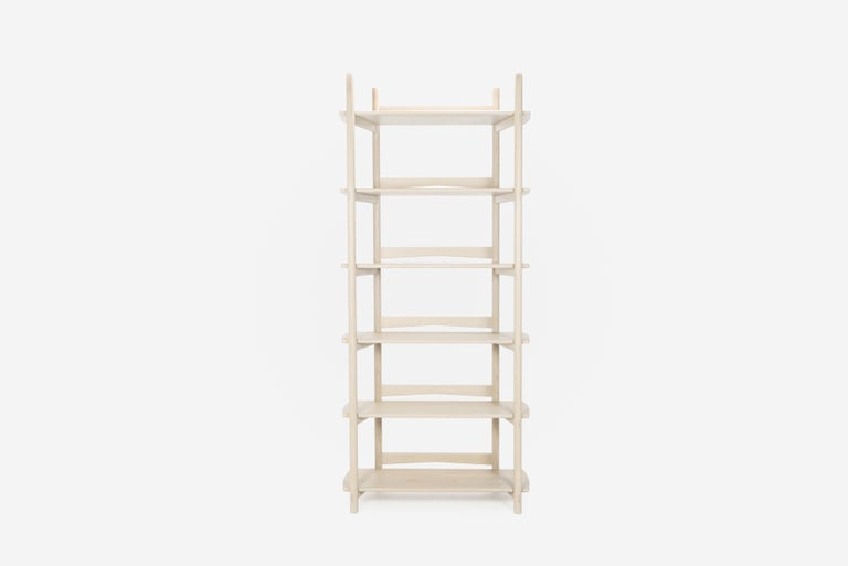 Mora Bookcase by Sun at Six, Nude, Minimalist Bookcase in Oak Wood For Sale 5