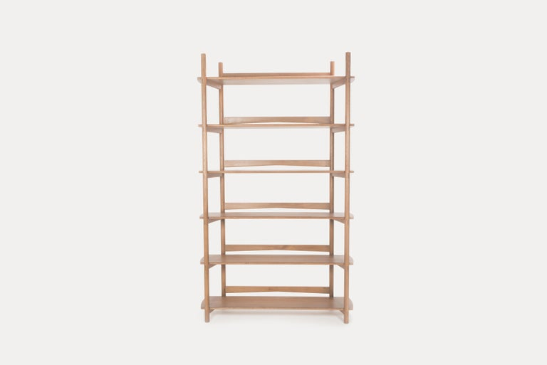 Joinery Mora Bookcase by Sun at Six, Sienna, Minimalist Bookcase in Oak Wood For Sale