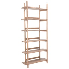 Mora Bookcase by Sun at Six, Sienna, Minimalist Bookcase in Oak Wood