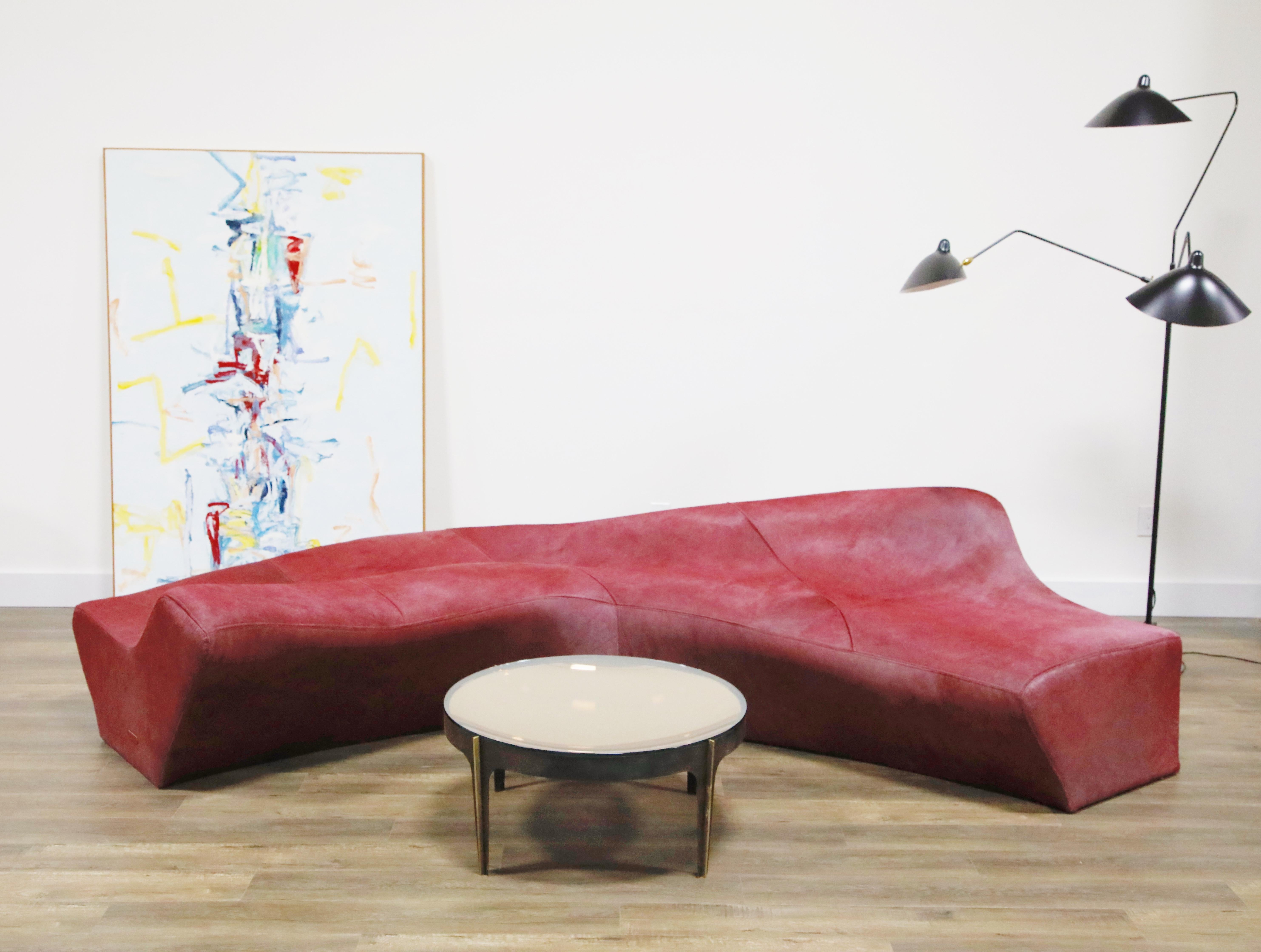 The Moraine couch from Zaha Hadid's Z-Scape series, offered by Automaton