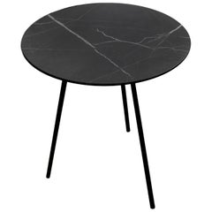 Moray Steel and Black Marble Large Side Table