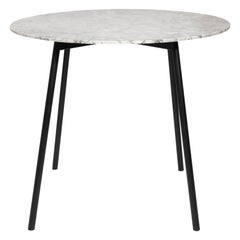 Moray Steel and White Marble Breakfast Table