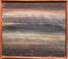"Israeli Modernist Oil Painting Abstract ""Moonlight"" Bezalel School"