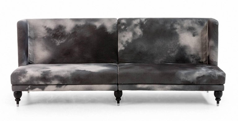Quot More Bench Quot Four Seat Upholstered Sectional Wood Frame