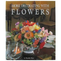 More Decorating with Flowers Decorative Vintage Coffee Table Book