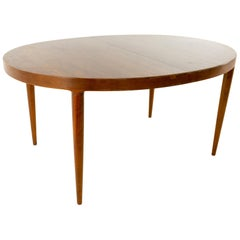 Moreddi Midcentury Danish Modern Walnut Oval Dining Table
