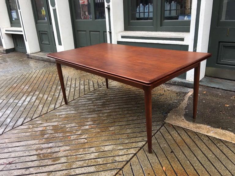 Scandinavian Modern Moreddi Teak Refractory Dining Table