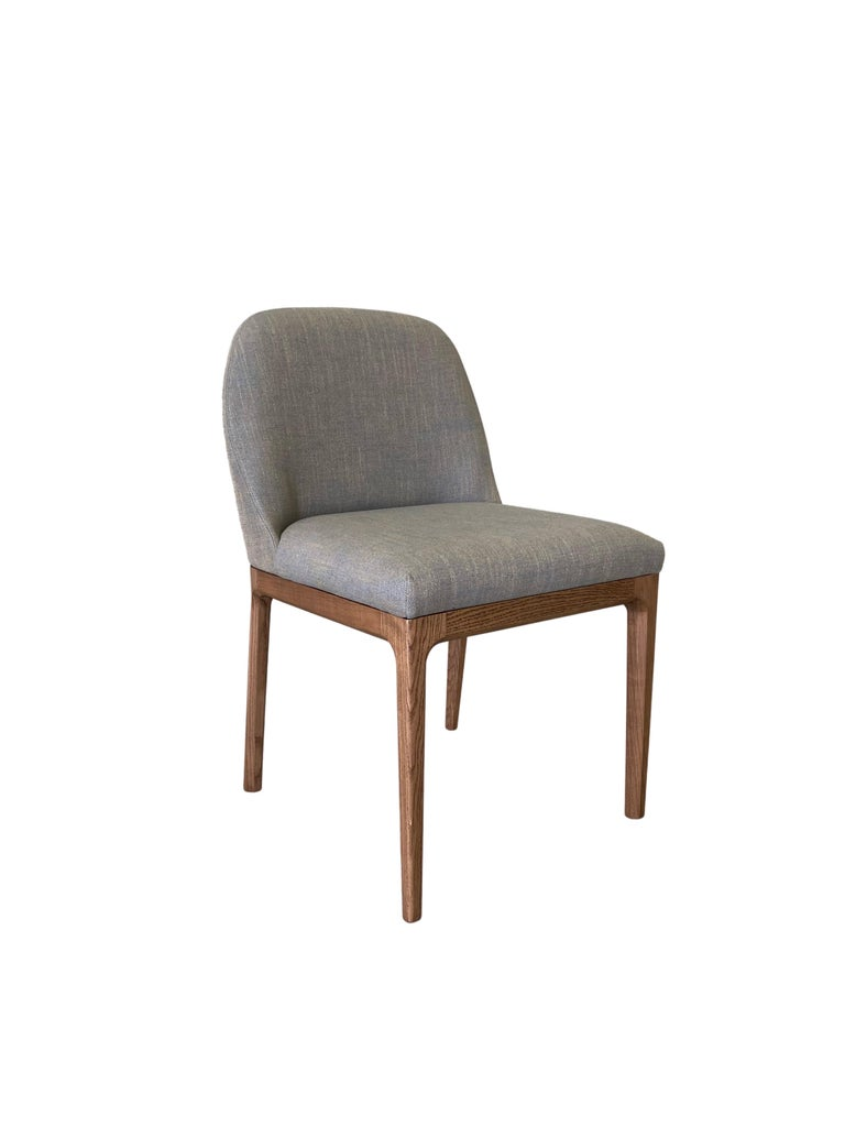 Italian Morelato Contemporary Dining Chair in Ashwood For Sale