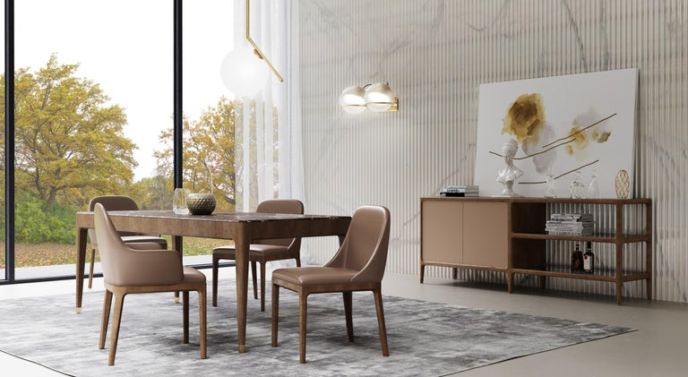 Morelato Contemporary Dining Chair in Ashwood For Sale 3