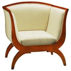 Morelato Wooden Armchair in Biedermeier Style