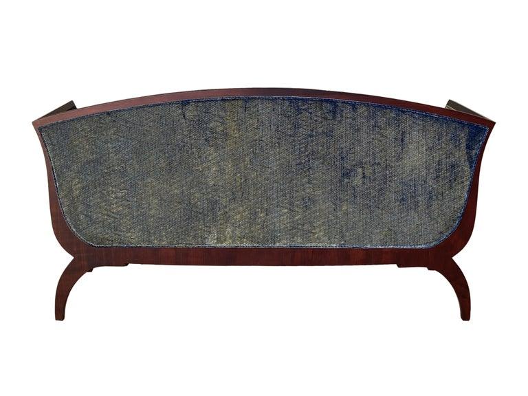 Morelato Wooden Sofa in Biedermeier Style For Sale 1