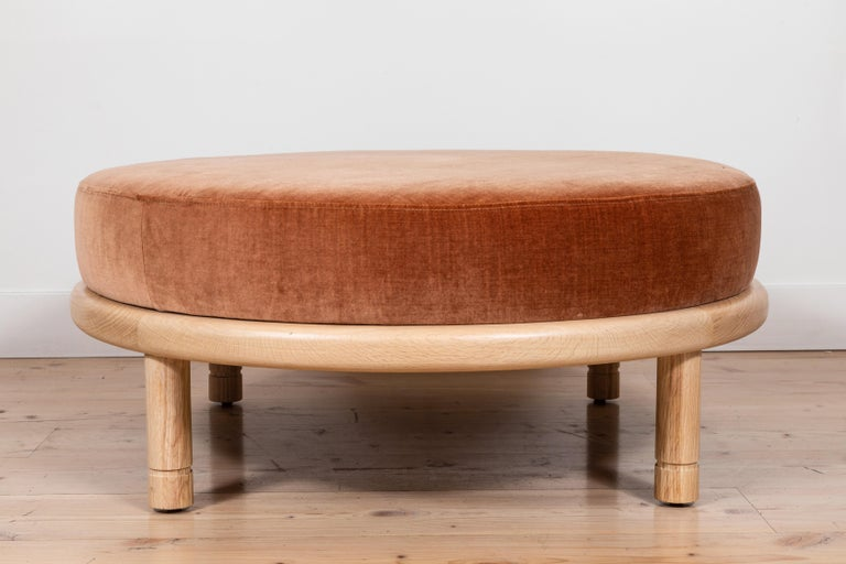 Moreno Ottoman by Lawson-Fenning In New Condition In Los Angeles, CA