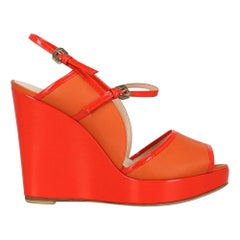 Moreschi Woman Wedges Orange Leather IT 37