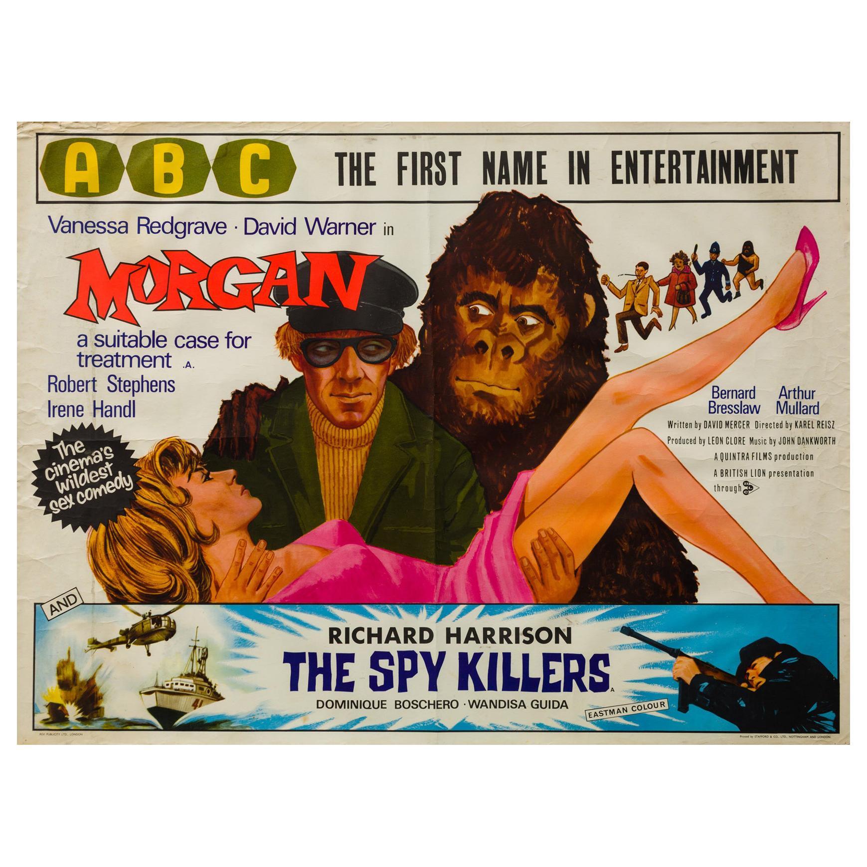 """""""Morgan"""" 1966 UK Quad Film Movie Poster"""