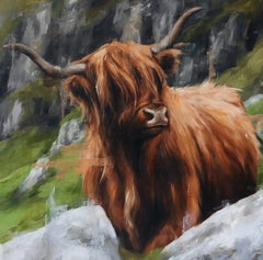 """""""Highland Cow,"""" Oil painting"""