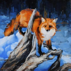 """Winter Fox"", Oil painting"