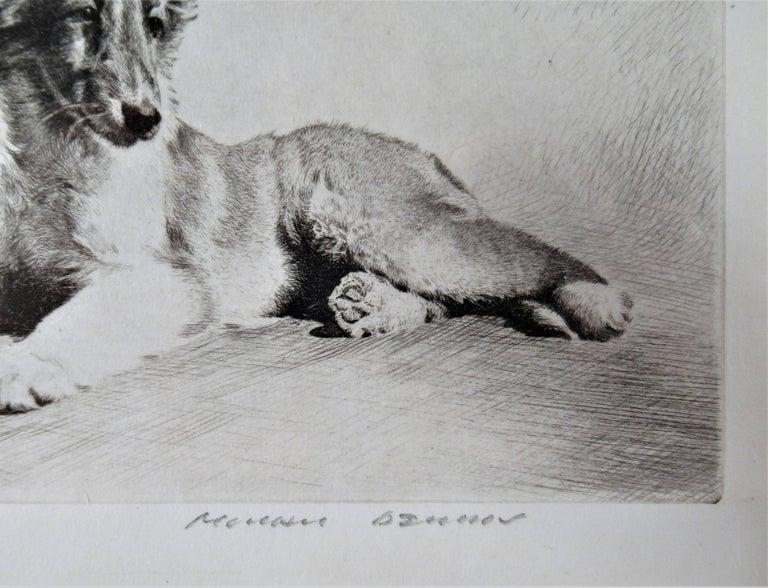 German Shepherd - Brown Figurative Print by Morgan Dennis