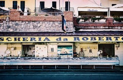 Pescheria (Photograph, Print, Southern Italy, Italian Living, Yellow, Blue)
