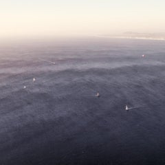 Sailboats (Photograph, Print, Ocean, Sea, Open Waters, Blue, Boats, Sun)