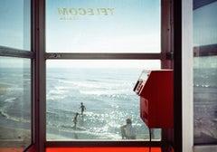 Telecom Italia (Photograph, Print, Summer, Italy, Beach, Red, Sun, Sea)
