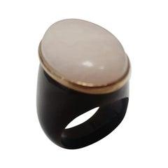 Morganite 18 Karat Gold Dome Ring