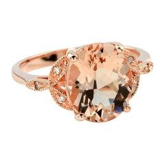 Morganite Diamond Cocktail Ring