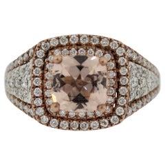 Morganite Diamond Rose-Gold Cocktail Ring