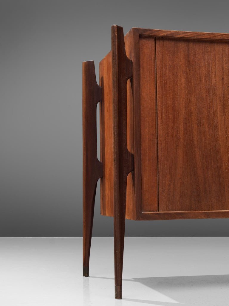 Mid-20th Century Morgen Clausen for Brande Modelfabrik Pair of Nightstands and Headboard