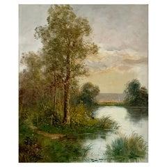 "Morisot Edma '1839-1921' ""Edge of a Pond"
