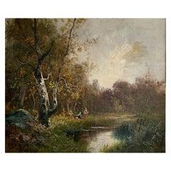"Morisot Edma ""On the riverside"""