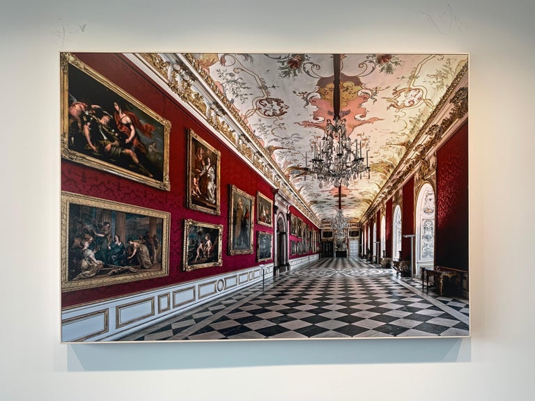 Royal Red by Moritz Hormel contemporary photography of a palace interior For Sale 1