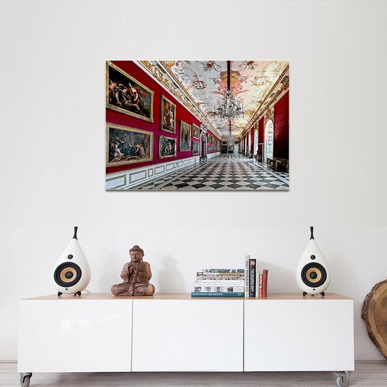 Royal Red by Moritz Hormel contemporary photography of a palace interior For Sale 2