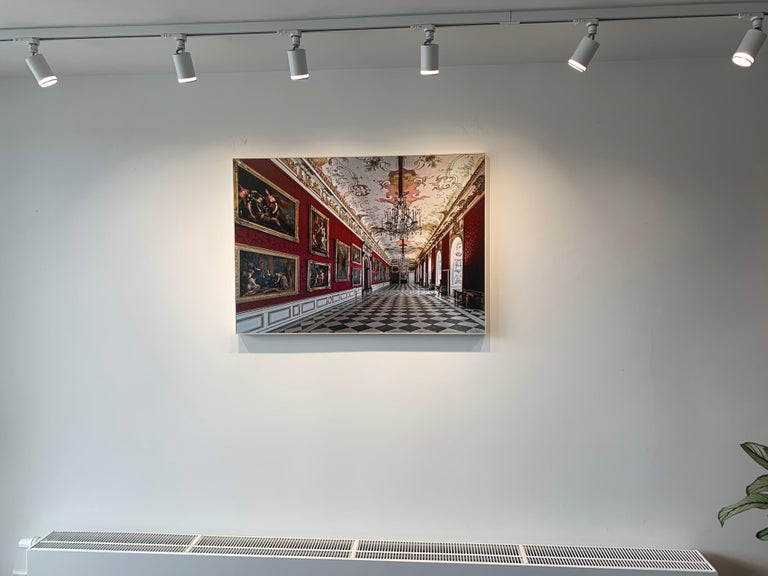 Royal Red by Moritz Hormel contemporary photography of a palace interior For Sale 3