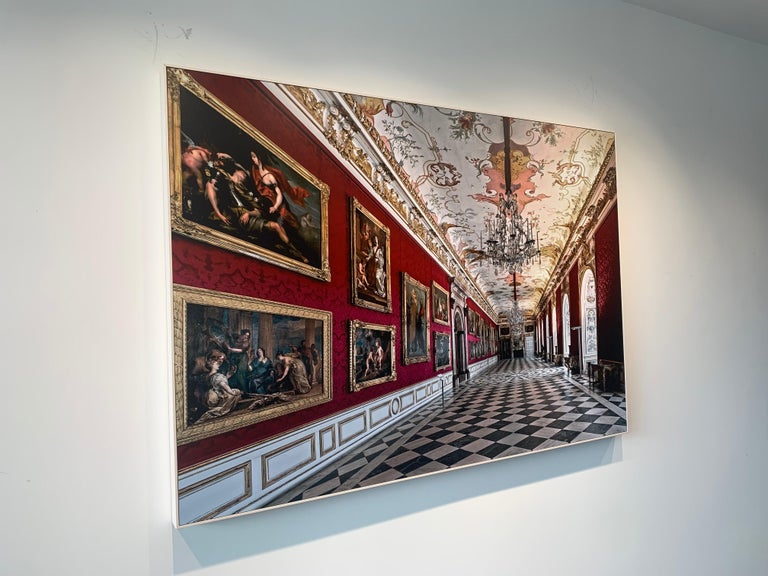 Royal Red by Moritz Hormel contemporary photography of a palace interior For Sale 5