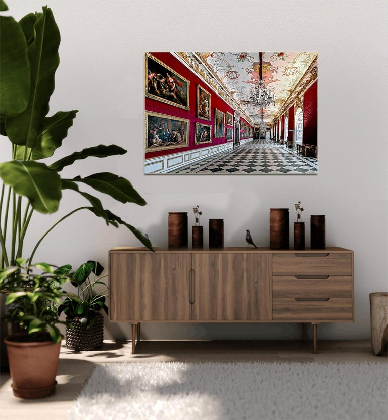 Royal Red by Moritz Hormel contemporary photography of a palace interior For Sale 6