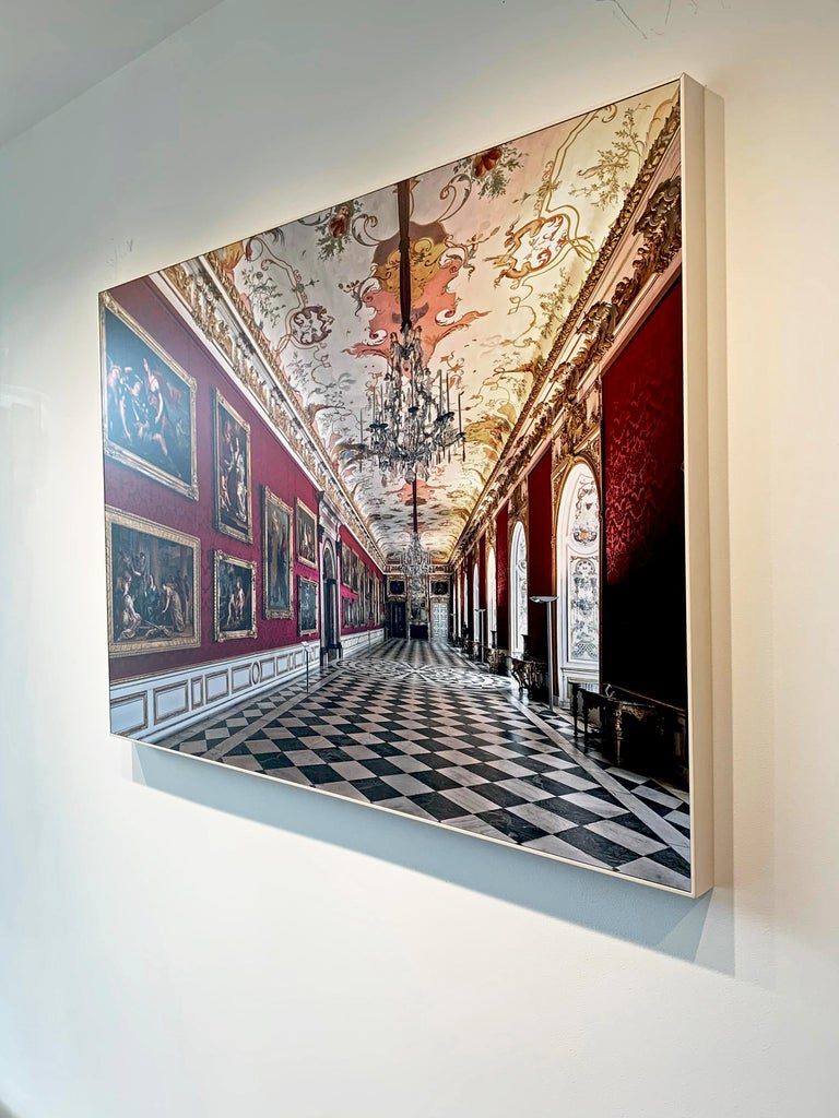 Royal Red by Moritz Hormel contemporary photography of a palace interior For Sale 7