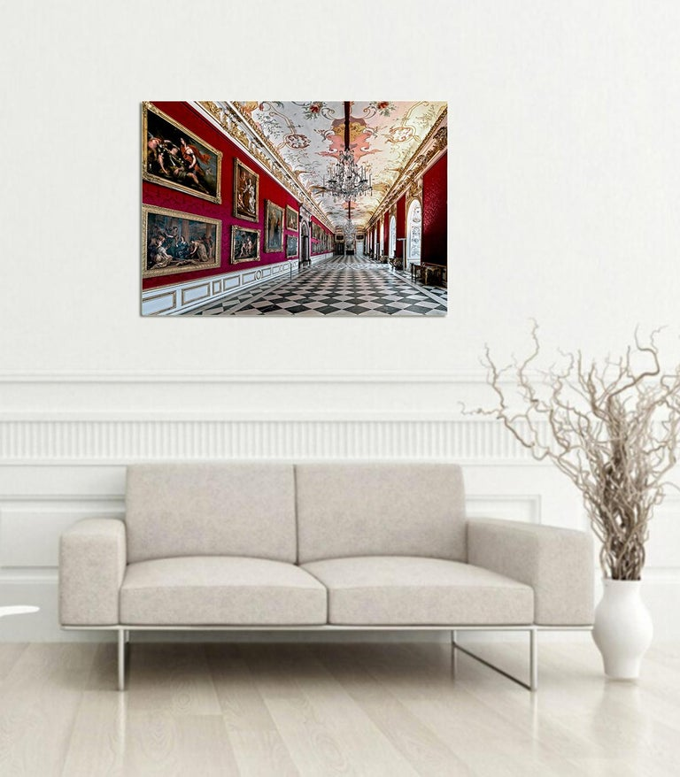 Royal Red by Moritz Hormel contemporary photography of a palace interior For Sale 8