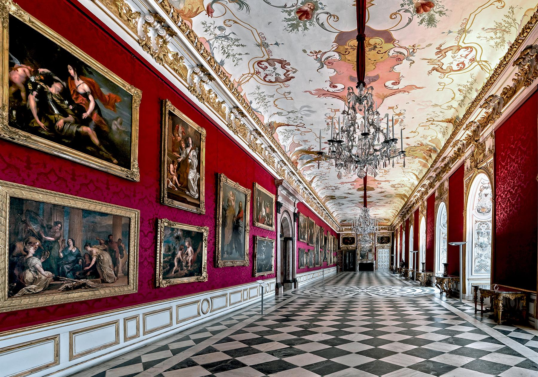 Royal Red by Moritz Hormel contemporary photography of a palace interior