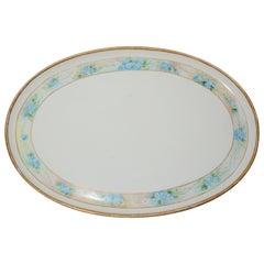 Moritz Zdekauer Hand Painted Oval Porcelain Platter, 1914, Austria Artist Signed