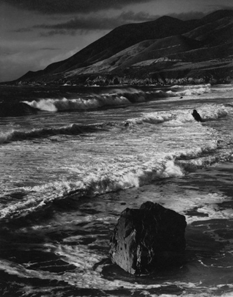 Morley Baer Landscape Photograph - Winter Surf, Garrapata, Sur Coast, 1966