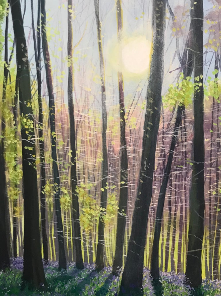 Debbie Baxter is a well know English tree artist  Acrylic on canvas Measures: Image 90 x 70 cms.