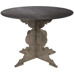 Moro Contemporary Round Dining Table with Steel Base