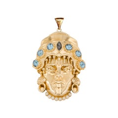 Moro iconic pendant charm gold plated NWOT