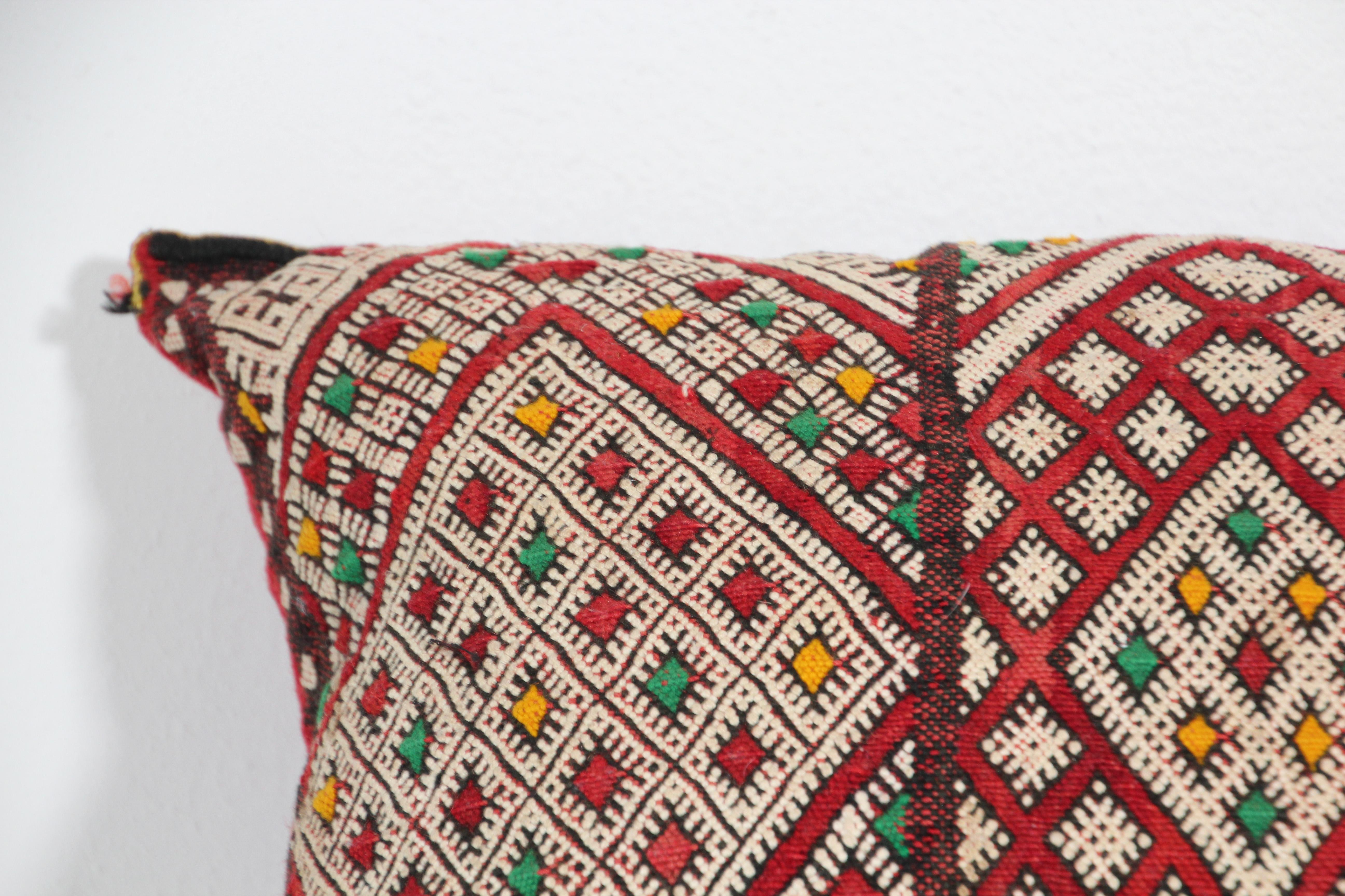 Vintage Moroccan African Tribal Berber Pillow cover c.1960 new Never Used 24 x 18