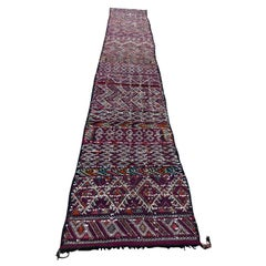 Moroccan African Zemmour Ethnic Textile Rug