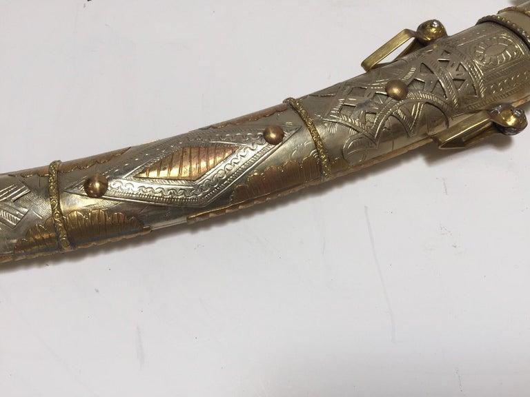 Moroccan Arabian Jambiya Sword Large Dagger For Sale 3