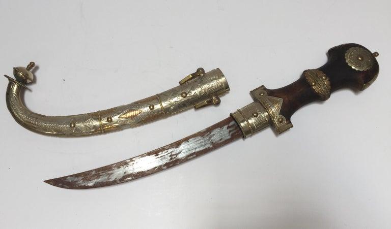 Moroccan Arabian Jambiya Sword Large Dagger For Sale 11