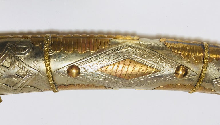 Moroccan Arabian Jambiya Sword Large Dagger For Sale 1