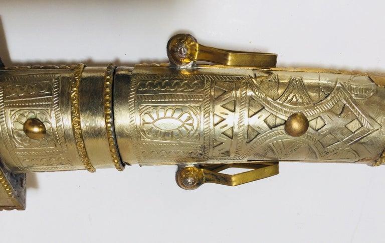 Moroccan Arabian Jambiya Sword Large Dagger For Sale 2